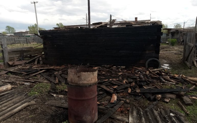 Сжигали мусор— загорелась баня. Пожар тушили вАскизском районе