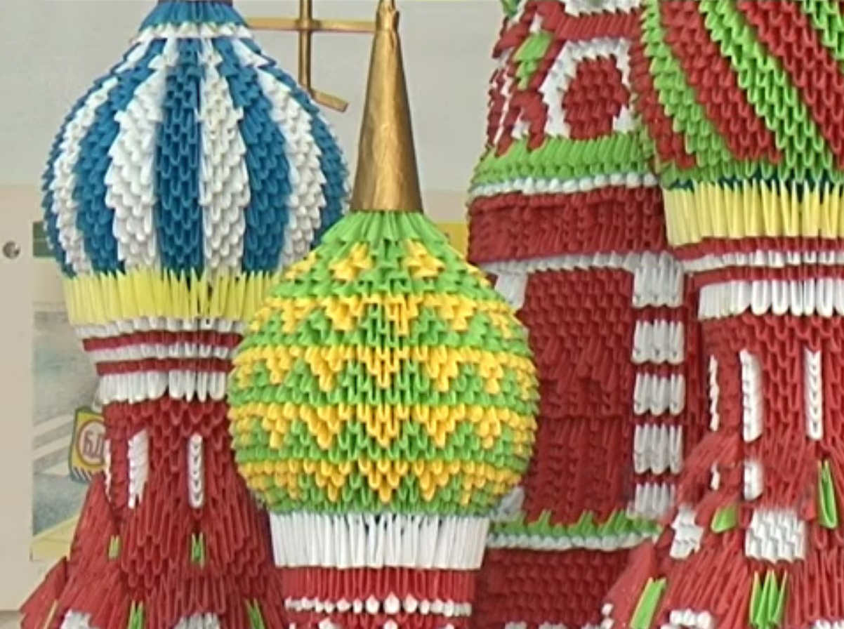 Модульное оригами схема собора василия блаженного